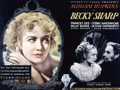 Becky Sharp, Miriam Hopkins, Cedric Hardwicke, 1935