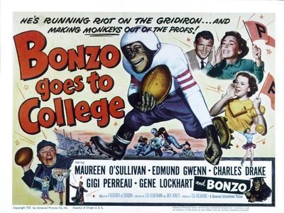 Bonzo Goes to College, Edmund Gwenn, Bonzo, Charles Drake, Maureen O'Sullivan, Gigi Perreau, 1952