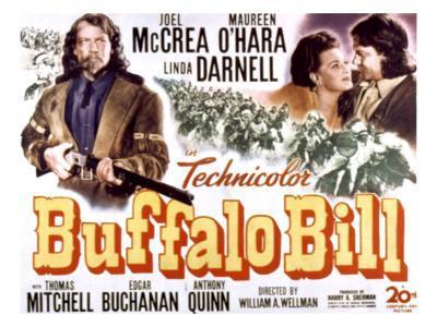Buffalo Bill, Joel Mccrea, Maureen O'Hara, 1944