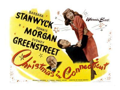 Christmas in Connecticut, Sydney Greenstreet, Dennis Morgan, Barbara Stanwyck, 1945