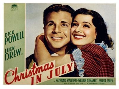 Christmas in July, Dick Powell, Ellen Drew, 1940