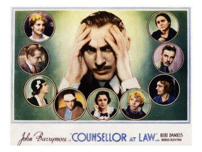 Counsellor at Law, John Barrymore, Malka Kornstein, Onslow Stevens, and Doris Kenyon, 1933