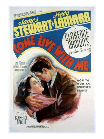 Come Live with Me, Hedy Lamarr, James Stewart, 1941
