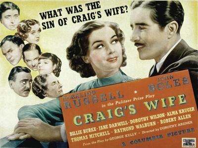 Craig's Wife, with Jane Darwell, Billie Burke, Thomas Mitchell, and Robert Allen, 1936
