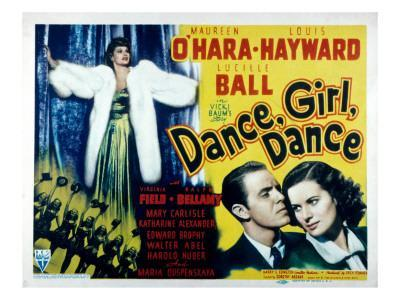 Dance, Girl, Dance, Lucille Ball, Louis Hayward, Maureen O'Hara, 1940