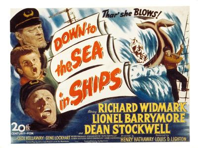 Down to the Sea in Ships, Lionel Barrymore, Dean Stockwell, Richard Widmark, 1949
