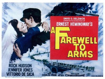 Farewell to Arms, Jennifer Jones, Rock Hudson, 1957