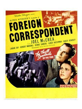 Foreign Correspondent, Joel Mccrea, George Sanders, Laraine Day, Herbert Marshall, 1940