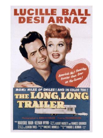 The Long, Long Trailer, Desi Arnaz, Lucille Ball, 1954