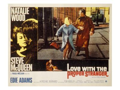 Love with the Proper Stranger, Natalie Wood, Steve McQueen, 1963