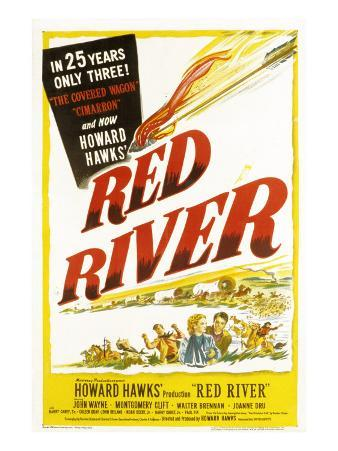 Red River, John Wayne, Joanne Dru, Montgomery Clift, 1948