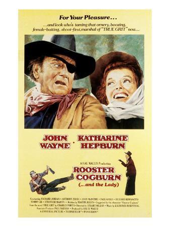 Rooster Cogburn, John Wayne, Katharine Hepburn, 1975