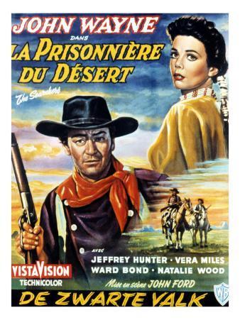 The Searchers, John Wayne, Jeffrey Hunter, Natalie Wood, 1956