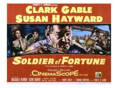 Soldier of Fortune, Clark Gable, Susan Hayward, Michael Rennie, Gene Barry, 1955