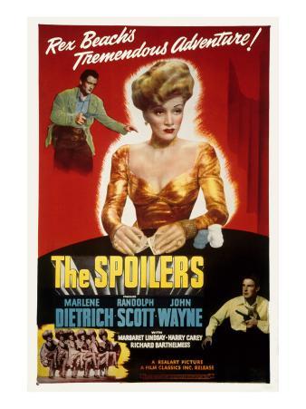 The Spoilers, John Wayne, Marlene Dietrich, 1942
