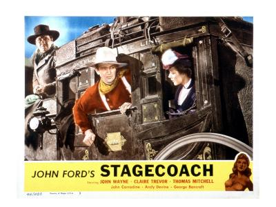 Stagecoach, George Bancroft, John Wayne, Louise Platt, 1939