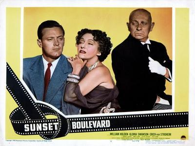 Sunset Boulevard, William Holden, Gloria Swanson, Erich Von Stroheim, 1950
