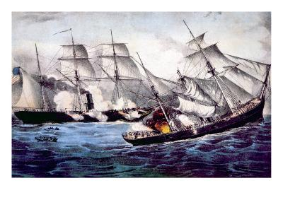 The Union Sloop of War Kearsarge Sinking the Confederate Ship Alabama, June 19, 1864