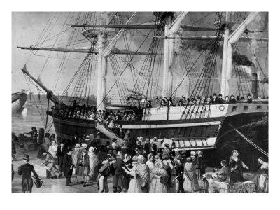 Irish Immigrants Disembarking at New York, 1855