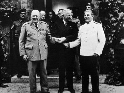 The Potsdam Conference, Winston Churchill, Harry S. Truman and Joseph Stalin, 1945