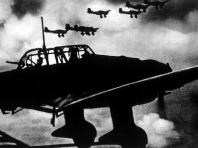World War II, German Stuka Dive Bombers over Poland, 1939