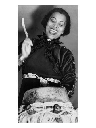 Zora Neale Hurston, African American Author and Folklorist, Beating the Hountar, or Mama Drum, 1937