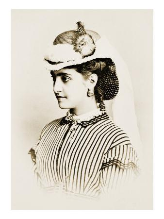 Adelina Patti as Lucia in Donizetti's Luccia Di Lammermoor at the New York Academy of Music, 1859