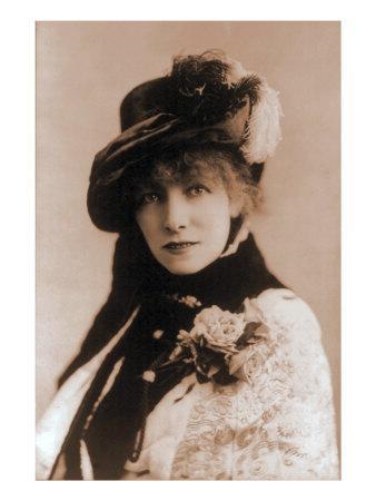 Sarah Bernhardt, French Actress, 1880
