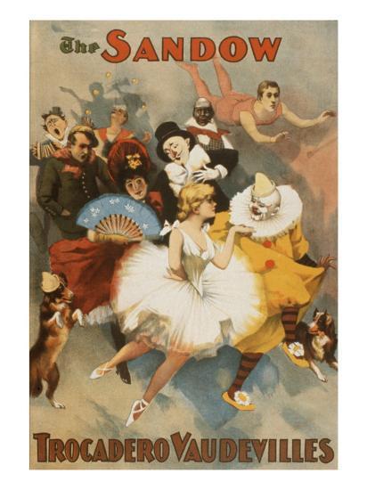 Sandow Trocadero Vaudevilles, Touring Stage Variety Show, Produced by  Florenz Ziegfeld, 1894