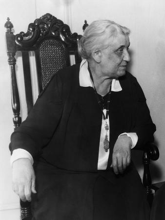 Jane Addams, Founder of Hull House and Nobel Peace Prize Laureate, 1930s