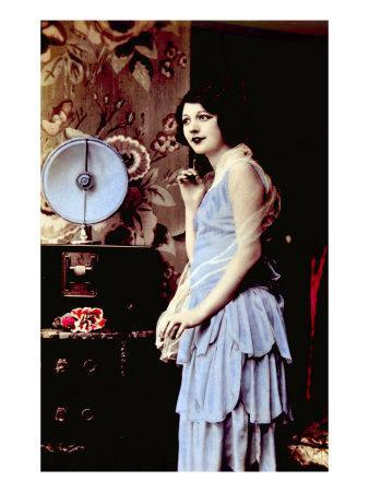 Woman Listening to a Radio, 1920s
