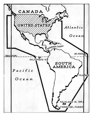 Tip Of South America Map.Map Of The Panama Canal Showing The Alternate Route Around The Tip