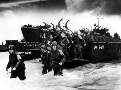 American Soldiers Landing in Normandy, France, 1944