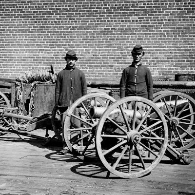 The Civil War, Richmond, Virginia, Confederate Brass Mountain Howitzers, from Glass Negative, 1865