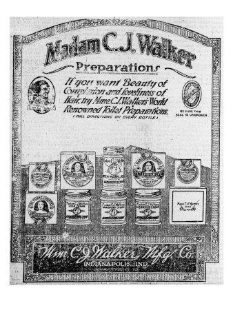 Newspaper Ad for Madam C.J. Walker Preparations, 1920