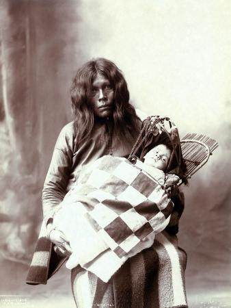 Native American Woman and Chiled, Woman and Baby of the Wichita Indian Tribe, 1899