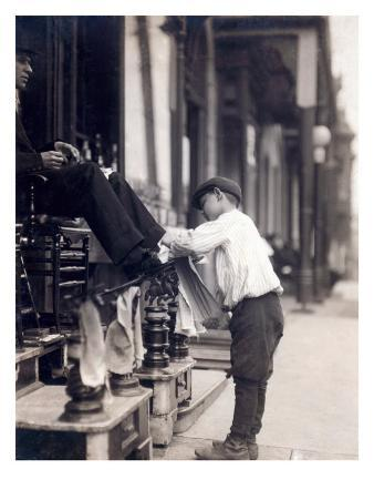 Child Labor, Bootblack at 2 West 4th Street, Wilmington, Delaware. May, 1910