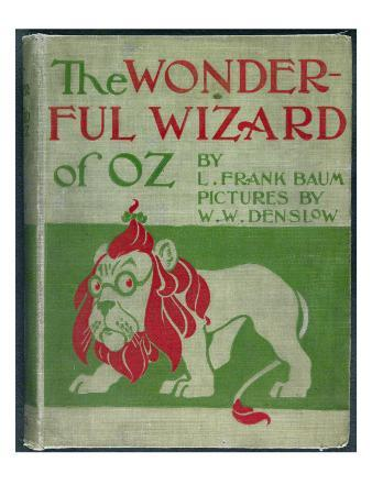 """""""Wonderful Wizard of Oz,"""" First Edition Book Cover, Written by Frank Lyman Baum in 1900"""