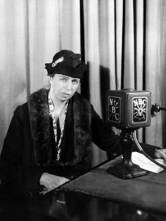 First Lady Eleanor Roosevelt, at a Radio Broadcast, 1930