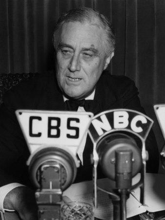 US President Franklin D. Roosevelt Delivering Fireside Chat On the European War, September 3, 1939