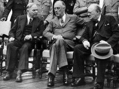 W.L. Mackenzie King, Franklin D. Roosevelt, Winston Churchill, Quebec Conference, Quebec City, 1944