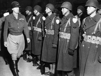 Lieutenant General George Patton, Inspecting Troops in the European Theatre of Operations, 1944