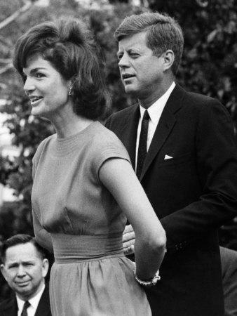 Jacqueline Kennedy, John F. Kennedy, on the White House Lawn, May 28, 1962
