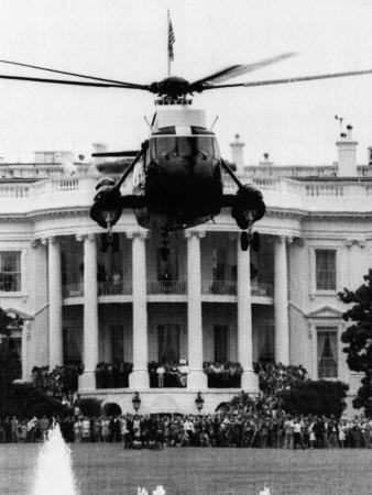 Former US President Richard Nixon Leaves the White House, Washington, D.C., August 9, 1972