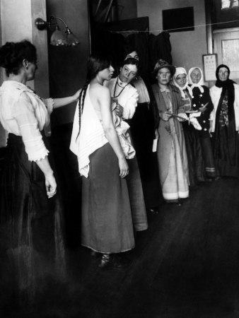 Women Immigrants Undegoing a Physical Examination, Ellis Island, New York, 1910