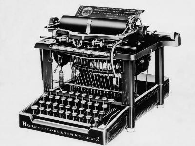 The Remington No.2, the First Typewriter Capable of Printing Lower and Upper Case Letters, 1878