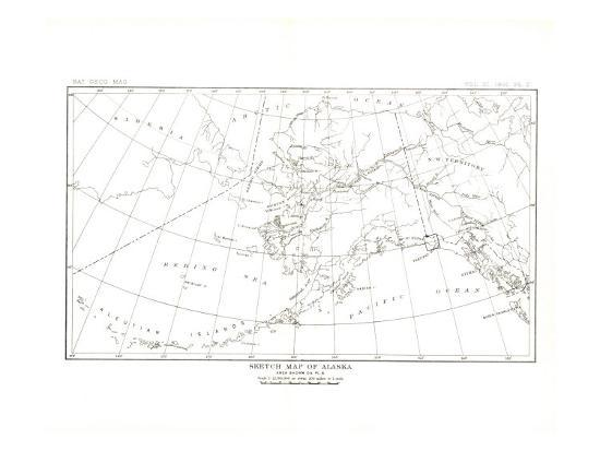 1891 Alaska Map Prints by National Geographic Maps at