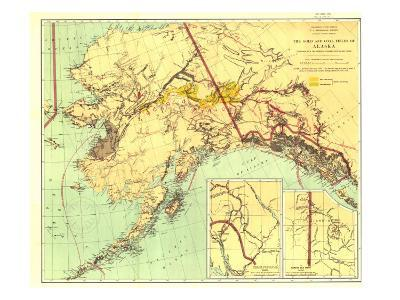 1898 Gold and Coal Fields of Alaska Map