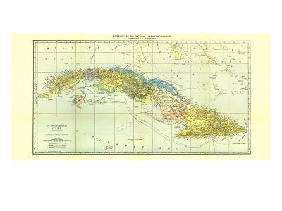 1906 Cuba Map