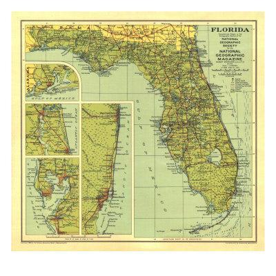 1930 Florida Map Posters By National Geographic Maps At Allposterscom - Us-map-1930